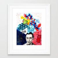 pee wee Framed Art Prints featuring pee wee herman by deanna kelii