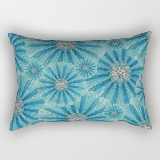 Fractal Flower Pattern Rectangular Pillow