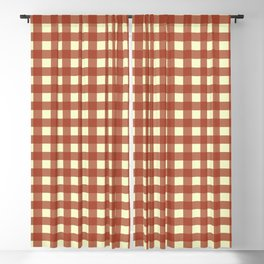 BRICK RED CHECK Blackout Curtain