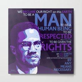 Malcolm X Metal Print