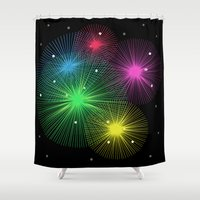 carnival Shower Curtains featuring Carnival by Alexander Studio