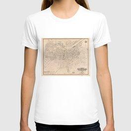 Vintage Map of Louisville Kentucky (1873) T-shirt