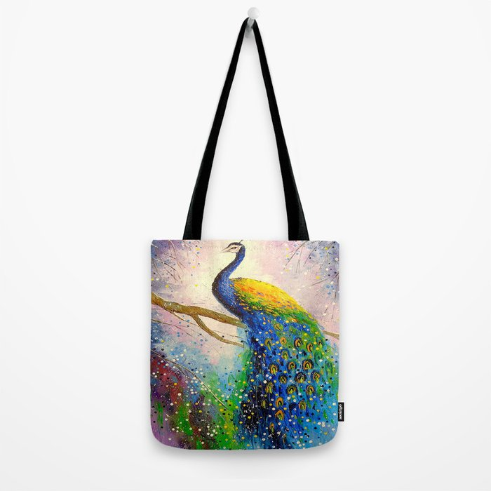Gorgeous peacock Tote Bag