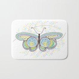 Ornamental Butterfly Bath Mat