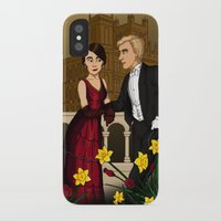 downton abbey iPhone & iPod Cases featuring Downton Nouveau by mikaelak