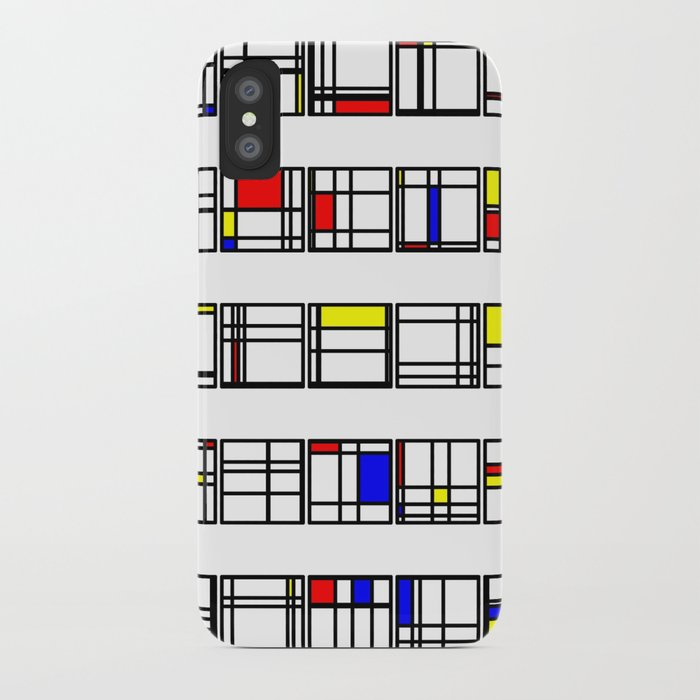 "Math Art Digital Print - ""mondRian"" iPhone Case"