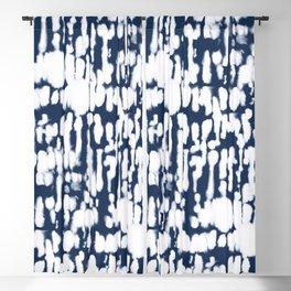 Inky Inverse Dark Blue Blackout Curtain