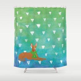 Pharaoh Hound Watercolour Shower Curtain