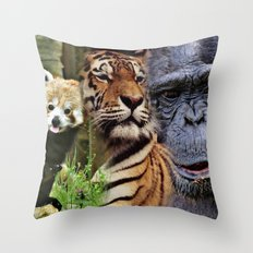 Wild Mix 2 Throw Pillow