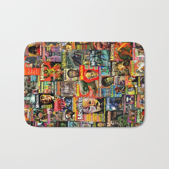 Monsters  |  Collage Bath Mat
