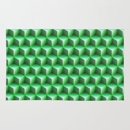 Green cubes Rug
