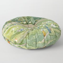 """Maurice Prendergast """"The Race Track (Piazza Siena, Borghese Gardens, Rome)"""" Floor Pillow"""
