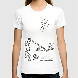 Apes Use Lever to Move Very Small Stone T-shirt