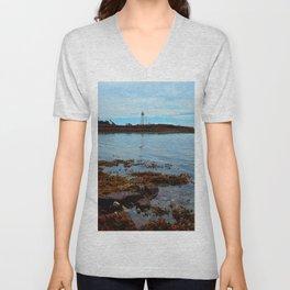 Point Prim Lighthouse Reflected Unisex V-Neck