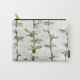 White blossom flowers Carry-All Pouch