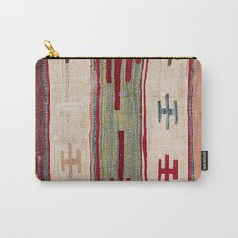 Arcade Star Kilim // 17th Century Colorful Muted Lime Green Southwest Cowboy Ornate Accent Pattern Carry-All Pouch