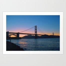 Golden Gate bridge. California. Art Print