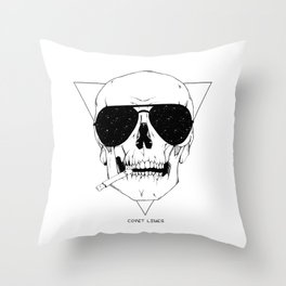 Smokes & Skulls Throw Pillow
