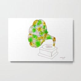 swirls - grammaphone Metal Print
