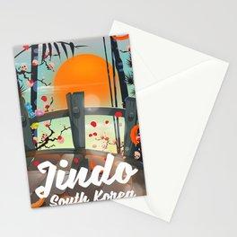 Jindo South korea travel poster. Stationery Cards
