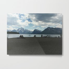 On the Shores of Jackson Lake Metal Print