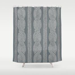 Cable Greys Shower Curtain