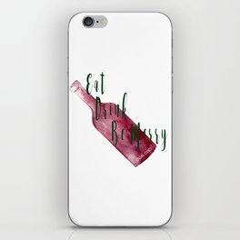 Eat Drink Be Merry iPhone Skin