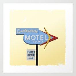 Gateway Motel Art Print