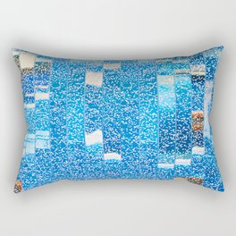 Air bubbles in blue water Rectangular Pillow
