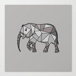 elephant geometric, bishop grey 2, home decor, Graphicdesign Canvas Print
