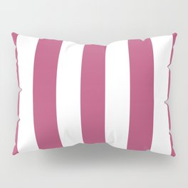 Irresistible purple - solid color - white vertical lines pattern Pillow Sham