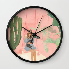 Enjoying the New Day Wall Clock