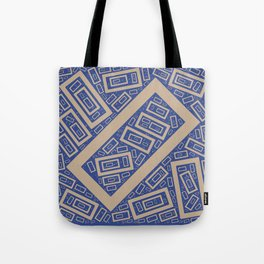 Rectangle Pattern Tote Bag