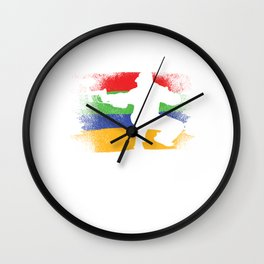 Paintball Flag Paintball Player Paintball Marker Gift Wall Clock