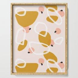 Abstract Fall III #society6 #abstractart Serving Tray