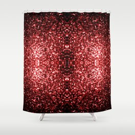 Beautiful Glamour Red Glitter sparkles Shower Curtain