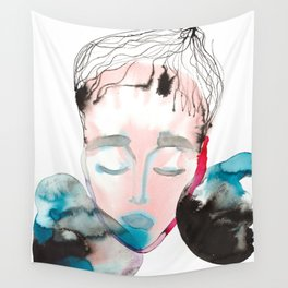 Abstract Cone-Head Portrait Wall Tapestry