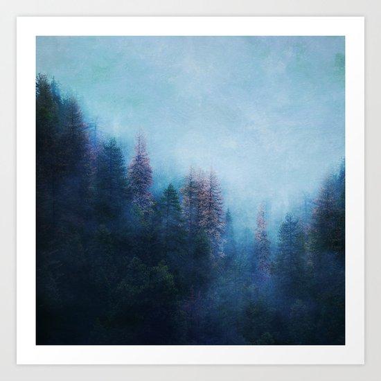 Dreamy Winter Forest Art Print
