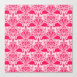 Flamingo Damask Canvas Print
