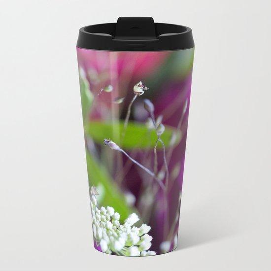 Pink & White Flower Vibes #1 #decor #art #society6 Metal Travel Mug