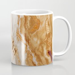 Glamorous Gold Glitter Vein Marble With Copper Sparkles Coffee Mug