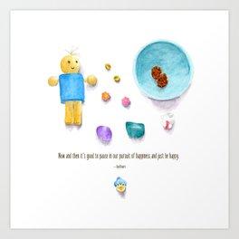 Bluebird of Happiness Art Print