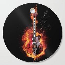 Guitar Burning Cutting Board