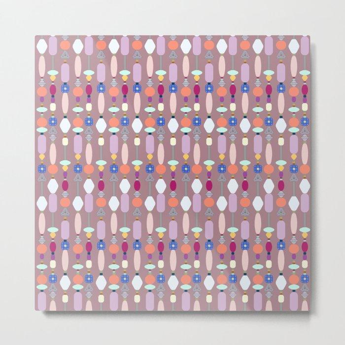 Boho Beads Metal Print