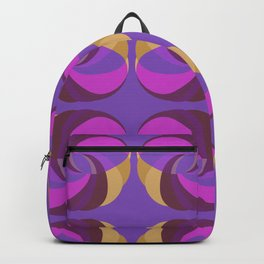 Gold And Purple Rings Backpack