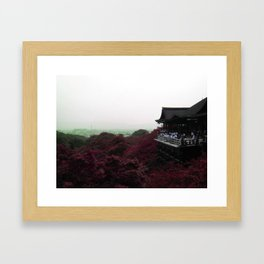 From a distance (Kyoto, Japan) Framed Art Print