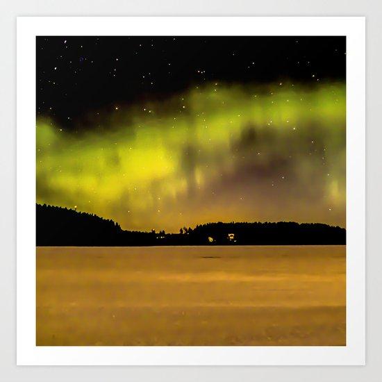 Northern Lights Fill The Sky Art Print