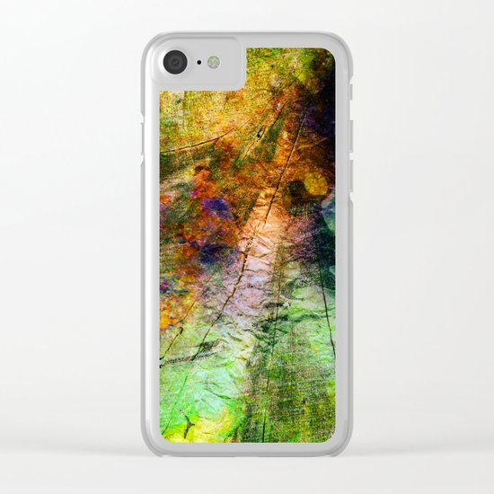 ink in wood Clear iPhone Case