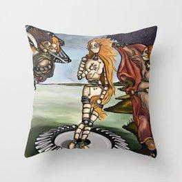 Building Venus Throw Pillow