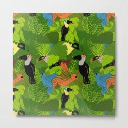 Tropical dawn, birds of paradise Metal Print